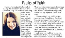 faults of faith