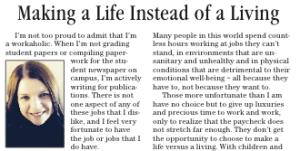 life versus living